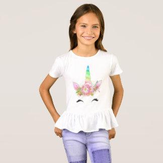 Camiseta Tshirt do unicórnio das meninas
