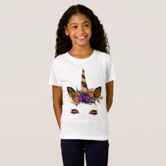 Camiseta Tshirt do unicórnio do Dia das Bruxas