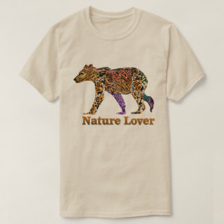 Camiseta Tshirt do urso do amante de natureza