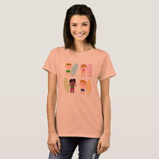 Camiseta Tshirt do vintage com miúdos do surf