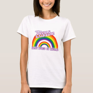 Camiseta Tshirt dobro do arco-íris
