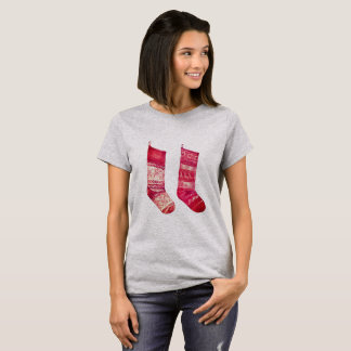 Camiseta Tshirt dos desenhistas para o xmas com meias