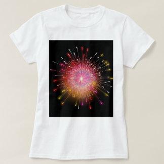 Camiseta Tshirt dos fogos-de-artifício