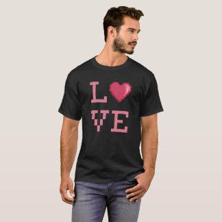 Camiseta Tshirt dos pixéis do amor