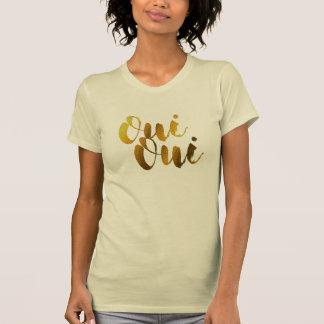 Camiseta Tshirt dourado dos namorados de France do francês