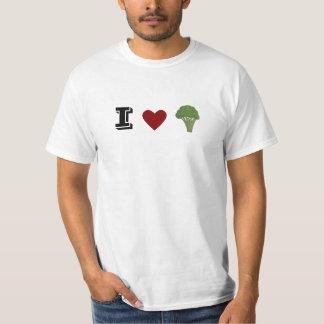 Camiseta Tshirt engraçado dos brócolos do coração de I