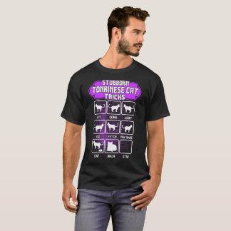 Camiseta Tshirt engraçado dos truques do gato teimoso de