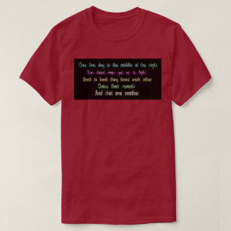 Camiseta Tshirt espirituoso funky engraçado do poema