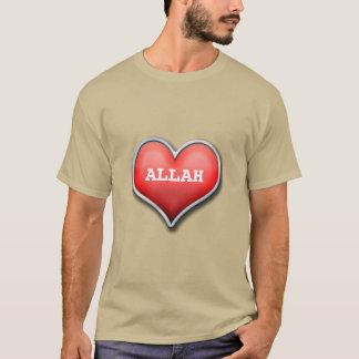 Camiseta Tshirt esplêndido do dawah com texto Allah