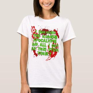 Camiseta Tshirt estúpido de Apoc do zombi