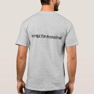 Camiseta Tshirt eu não lamento nada… exceto moonshine!