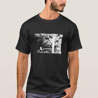 Camiseta Tshirt excêntrico do modelo do corvo