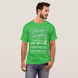 Camiseta Tshirt feio da camisola do gato de Tonkinese do