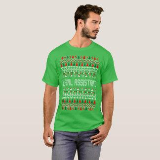 Camiseta Tshirt feio da camisola do Natal do assistente