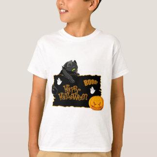 Camiseta TShirt feliz do gato do Dia das Bruxas