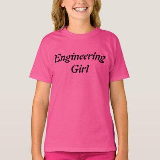 Camiseta Tshirt feminino do rosa das meninas da ciência da