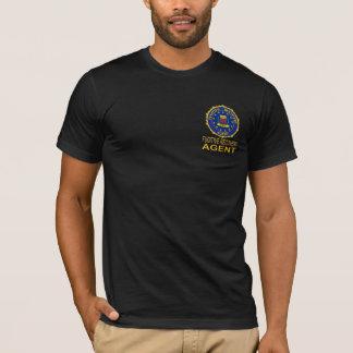 Camiseta Tshirt FUGITIVO preto do AGENTE da RECUPERAÇÃO