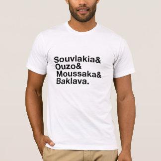 Camiseta Tshirt grego do rico do Ampersand da comida