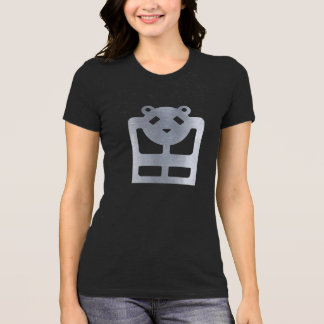 Camiseta Tshirt HQH do preto do jérsei das mulheres do urso