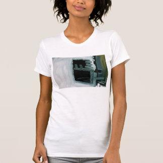 Camiseta Tshirt impresso abstrato Swiped preto e branco