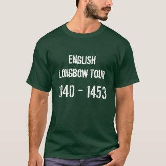 Camiseta Tshirt inglês da excursão do Longbow