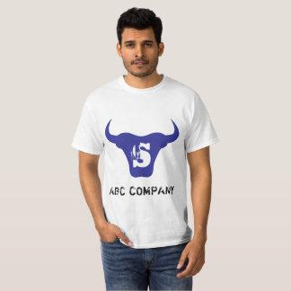 Camiseta Tshirt inicial azul da letra S do logotipo de Bull