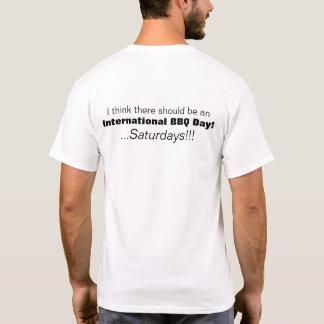 Camiseta TShirt internacional de sábados do dia do