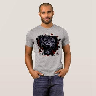 Camiseta Tshirt irritado dos homens do tigre