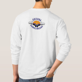 Camiseta Tshirt longo da luva com do clube do logotipo