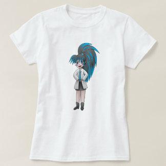 Camiseta tshirt louco da menina do cientista