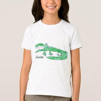 Camiseta Tshirt louco dos desenhos animados do jacaré