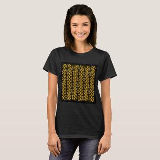 Camiseta Tshirt luxuoso das meninas dos desenhistas: PRETO