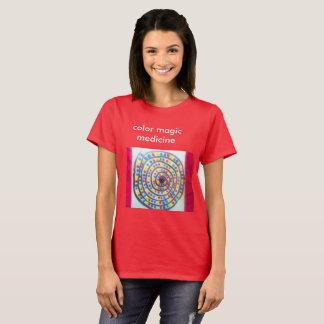 Camiseta tshirt mágico da medicina da cor