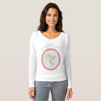 Camiseta Tshirt NOVO do MAPA DO MUNDO de GLEASON - Rez alto