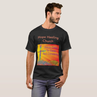 Camiseta Tshirt preto cristão da igreja cura da esperança