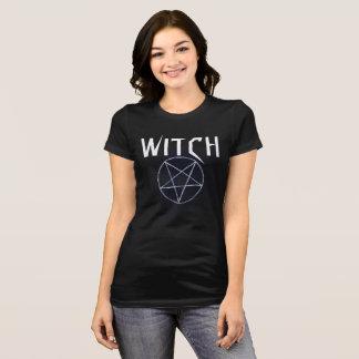 Camiseta Tshirt preto da bruxa das mulheres