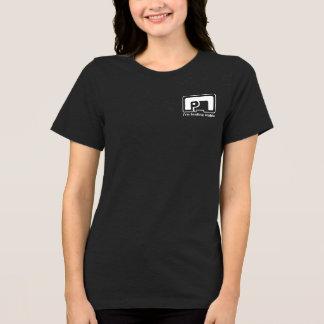 Camiseta Tshirt preto HQH do jérsei das mulheres do símbolo