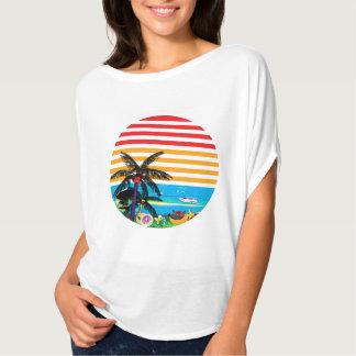 Camiseta Tshirt projetado temático da praia