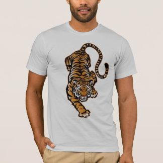 Camiseta Tshirt semi cabido de agachamento dos homens das