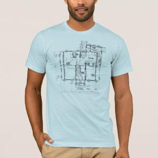 Camiseta Tshirt semi cabido dos homens do azul do modelo