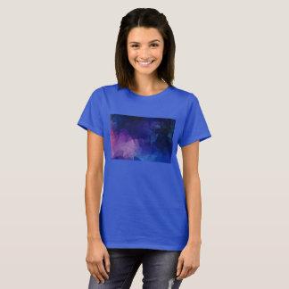 Camiseta Tshirt subaquático azul da caverna das senhoras
