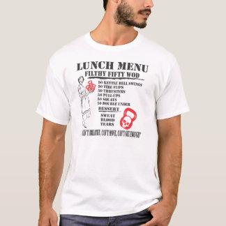 Camiseta Tshirt sujo do menu cinqüênta WOD do almoço