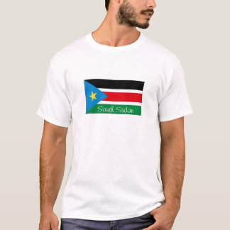 Camiseta Tshirt sul da lembrança da bandeira de Sudão