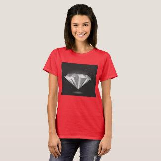 Camiseta Tshirt VERMELHO com diamante