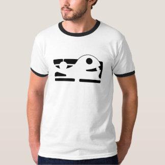 Camiseta tshirt viril HQH da baleia preta
