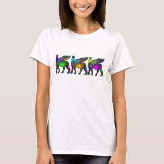 Camiseta Tshirt voado Assyrian da cor do touro