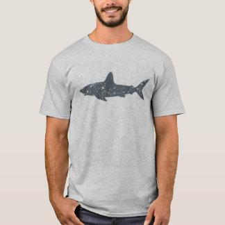Camiseta Tubarão cinzento da natação do Grunge