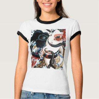 Camiseta tubarão contra o polvo