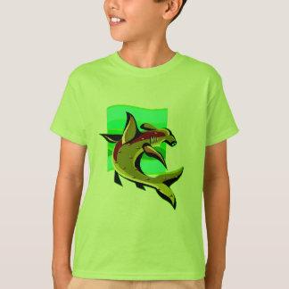 Camiseta Tubarão de Hammerhead verde