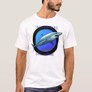 Camiseta Tubarão de Mako curto da aleta